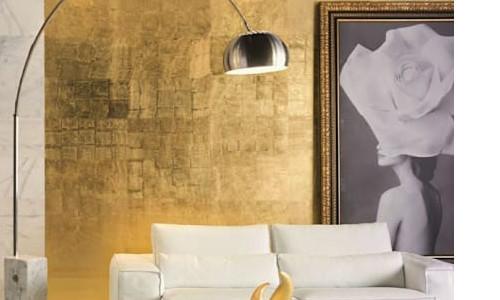 10 ideas para pintar tu pared creativas y geniales - Pintura dorada para paredes ...